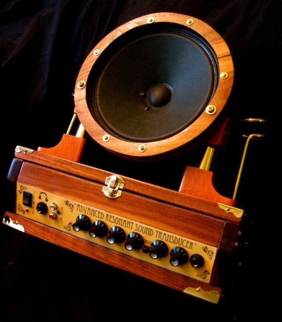 Custom Steampunk Guitar Amplifier - Fender Guitar Amp - Music Speaker by TGTstudios steampunk buy now online