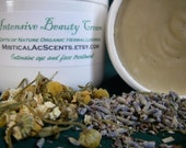 Organic Beauty Cream -Intensive Eye and Face - Vegetarian - with Cucumber Extract, Shea and Cocoa Butters
