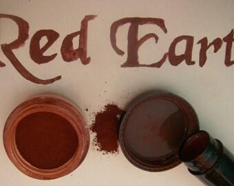 CREAM BLUSH / EYESHADOW - Organic - Red Clay,Terracotta colour - 1/4 oz tin - Vegetarian - Handmade Traditional Formula
