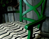 Emerald Chair - Meadow Green with Black Glaze - Dorothy - reserved for Castro Country Club Fundraiser Auction