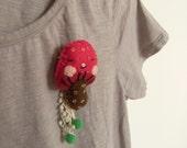 Trippy shroom - brooch