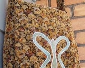 Butterfly on flower corduroy Messanger Bag