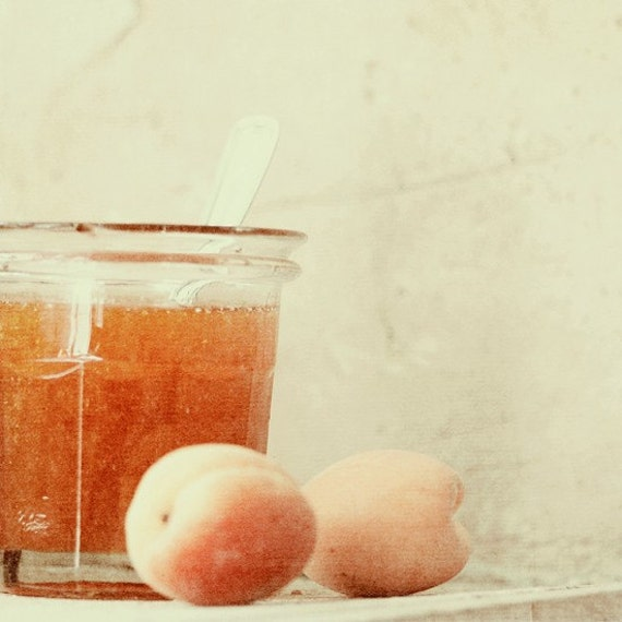 Apricot jam. Fine art kitchen photography print. 8x8 (20x 20cm)