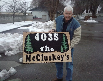 large Driveway Sign