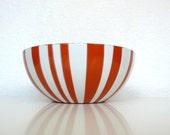 Cathrineholm Orange and White Stripe Bowl