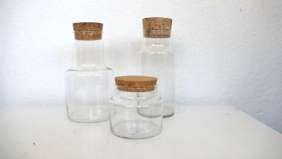 Trio of Corked Jars