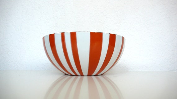 Cathrineholm Orange and White Stripe Bowl