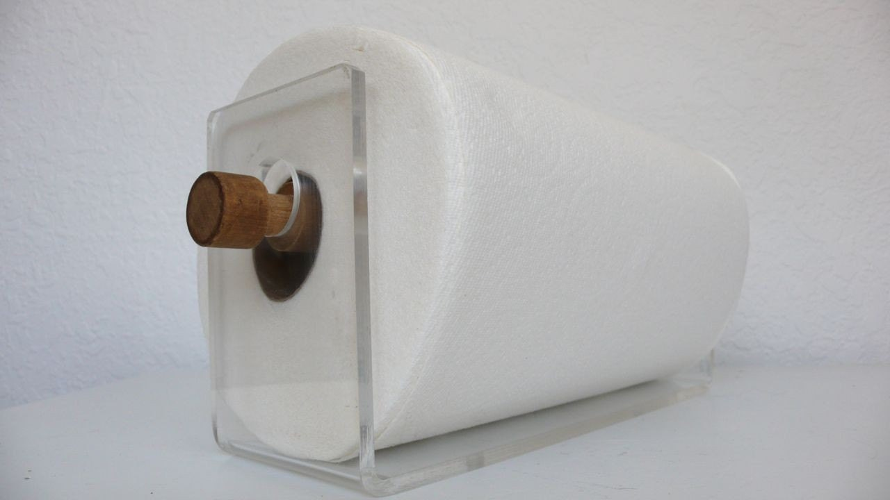 acrylic paper towel holder by hausproud on etsy. Black Bedroom Furniture Sets. Home Design Ideas