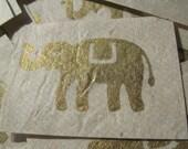 Gold Elephant Prints