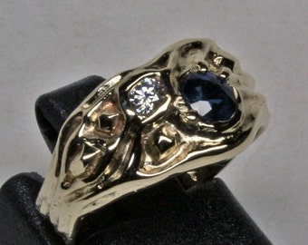 Small size 5.75 River Gems ring in 14K gold