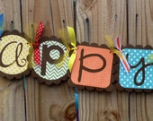 Custom Happy Birthday Banner--You pick the colors