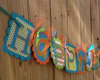 Happy Birthday Banner- Monsters