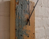 police barrier wooden clock