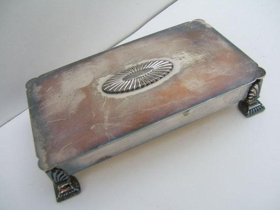 Vintage Ronson Silverplate Cigarette Box