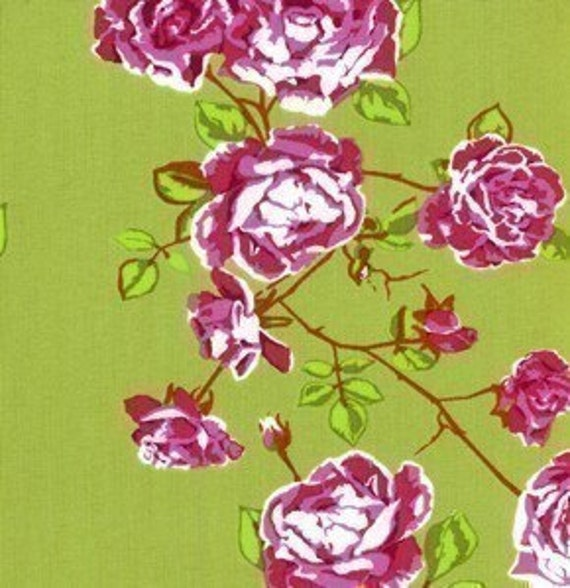 LAST ONE PIECE Anna Maria Horner, Social Climber in Olive,Garden Party Fabric