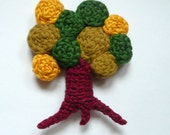 Autumn tree - crocheted