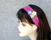 Crochet headband, hair band, headwrap,  flower crochet, Fashion Accessory