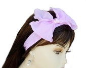 Pink Bow Chiffon Headband Hair bows Band Spring fashion