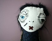 RESERVED ITEM  Sidney the monster Art Doll Plush- signed By ThEm DoLLz