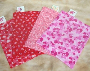 Valentine's Day Fabric Gift Bags - Set of 4