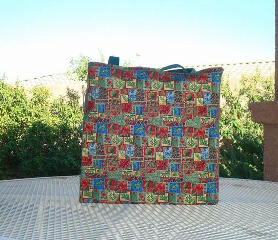Christmas Print Reusable Shopping Tote Bag