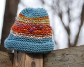 Ocean Sunset - Hand-knitted Adult Hat