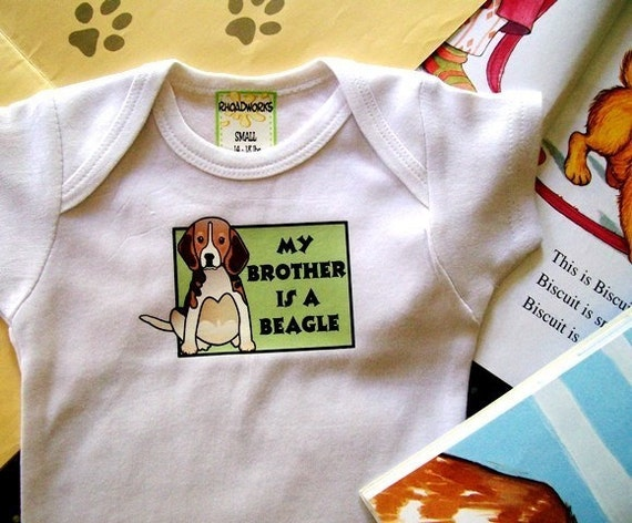 Beagle Bodysuit / Baby Clothes/Baby Boys' Bodysuit/Baby Girls' Bodysuit/Baby Shower Gift/Toddler tee shirt