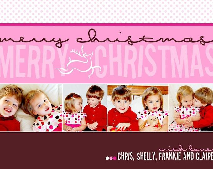 Reindeer Holiday Card - Printable Digital File