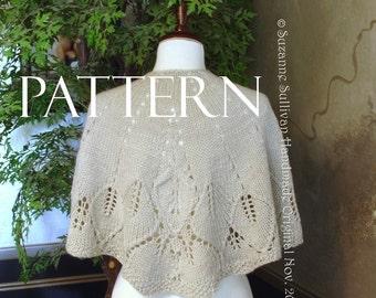 PDF,  Knitting Pattern, Country Walk Cape Pattern, Country Walk Shawl Pattern, Cape Pattern