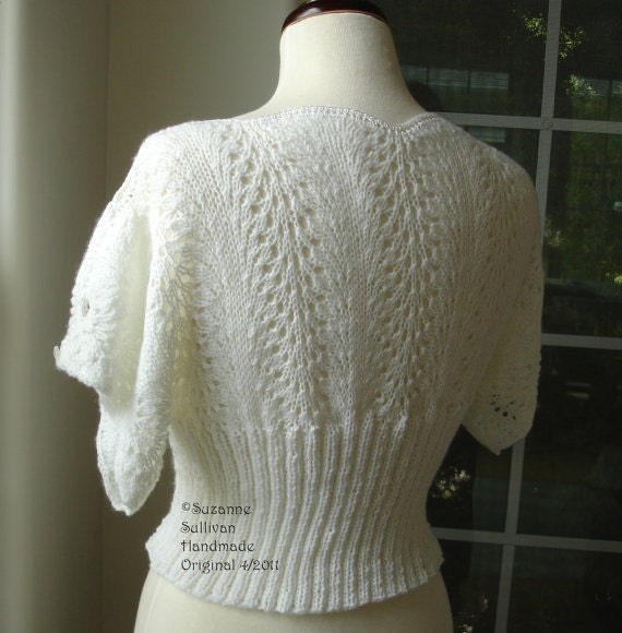PDF Knitting pattern, Pullover Top, Knitted Lace Top from SuzanneSullivan on ...