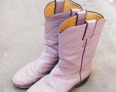 CLEARANCE vintage Cowboy Boots - Pink Leather Justin Western Cowgirl Boots Sz 5 36