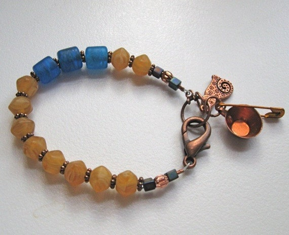 FROSTED BEADS with COPPER
