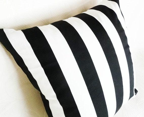 Black And White Striped Throw Pillows : Black and White Striped Pillows Decorative Throw Pillow