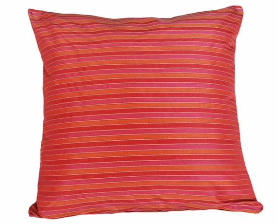 Red Pink Orange Pillow Covers Boho Pillows Vibrant Bold