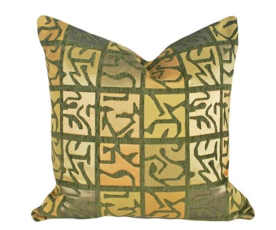 Aztec Pillow Luxury Decorative Pillow Textured By Pillowthrowdecor
