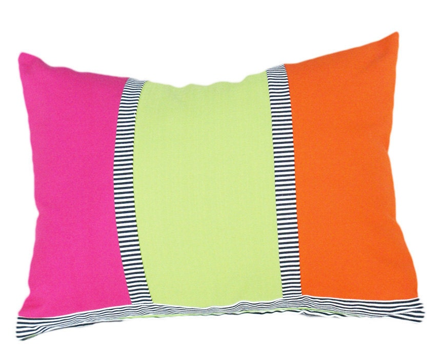 Colorful Decorative Throw Pillows Bright Pink by PillowThrowDecor