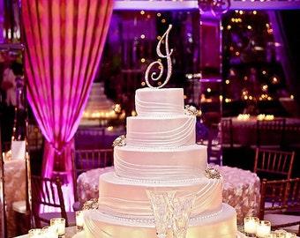 Custom Monogram Cake Topper - DOUBLE Sided - Swarovski & Glitz!