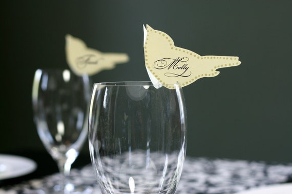 Love Bird Place Cards and Table Numbers - Reserved for Sally