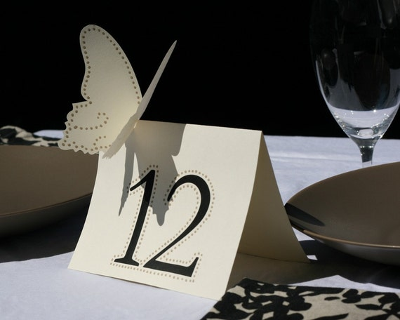 Butterfly Table Numbers - set of 7