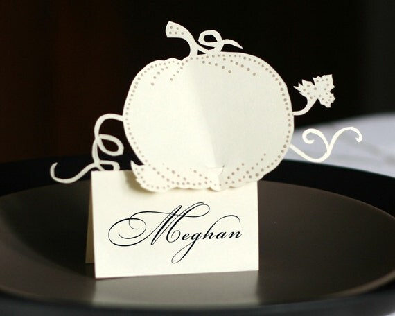 Pumpkin Place Cards (tent style)