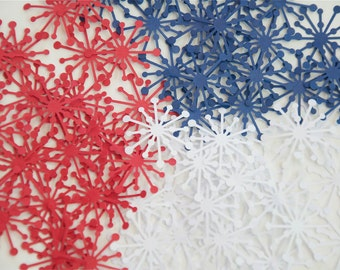 100 Starbursts- Red, White and Blue