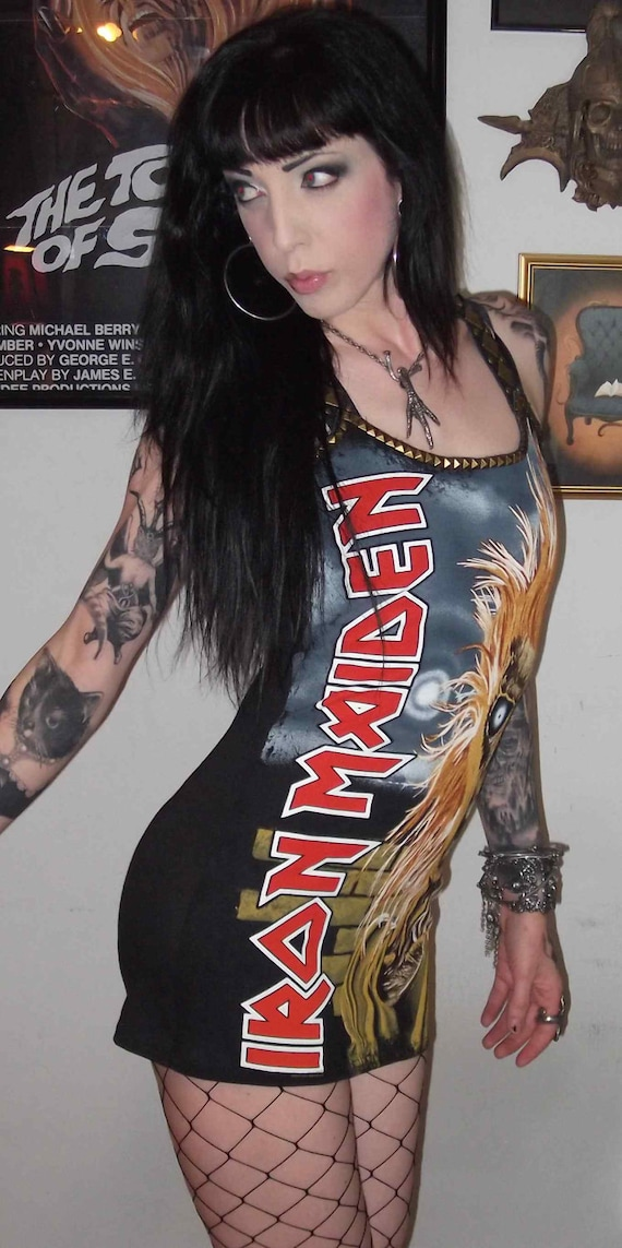 Iron Maiden Studded Mini Dress