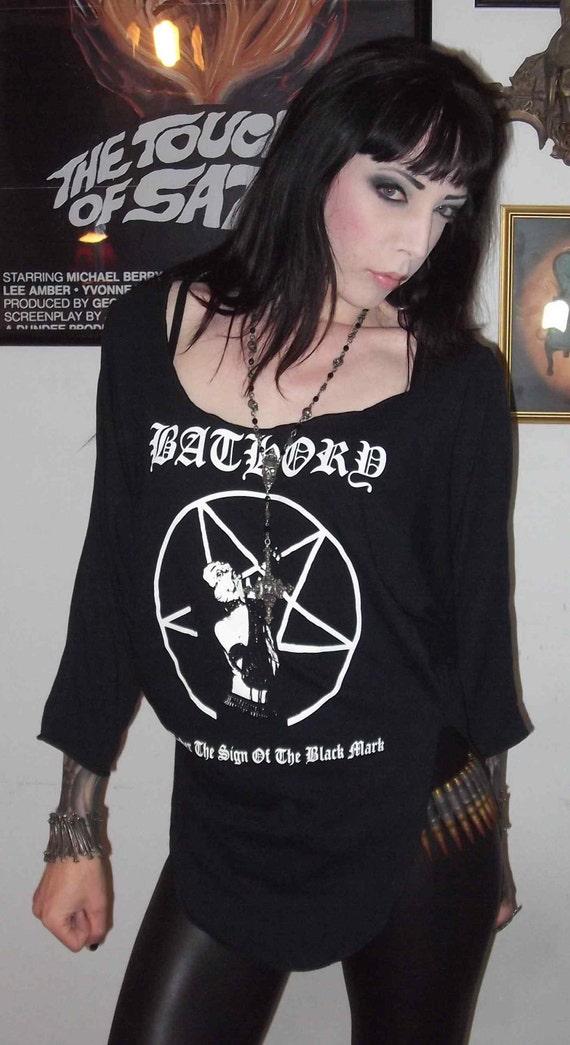 Bathory Girls Pentagram Drape Sleeve Slouch Top