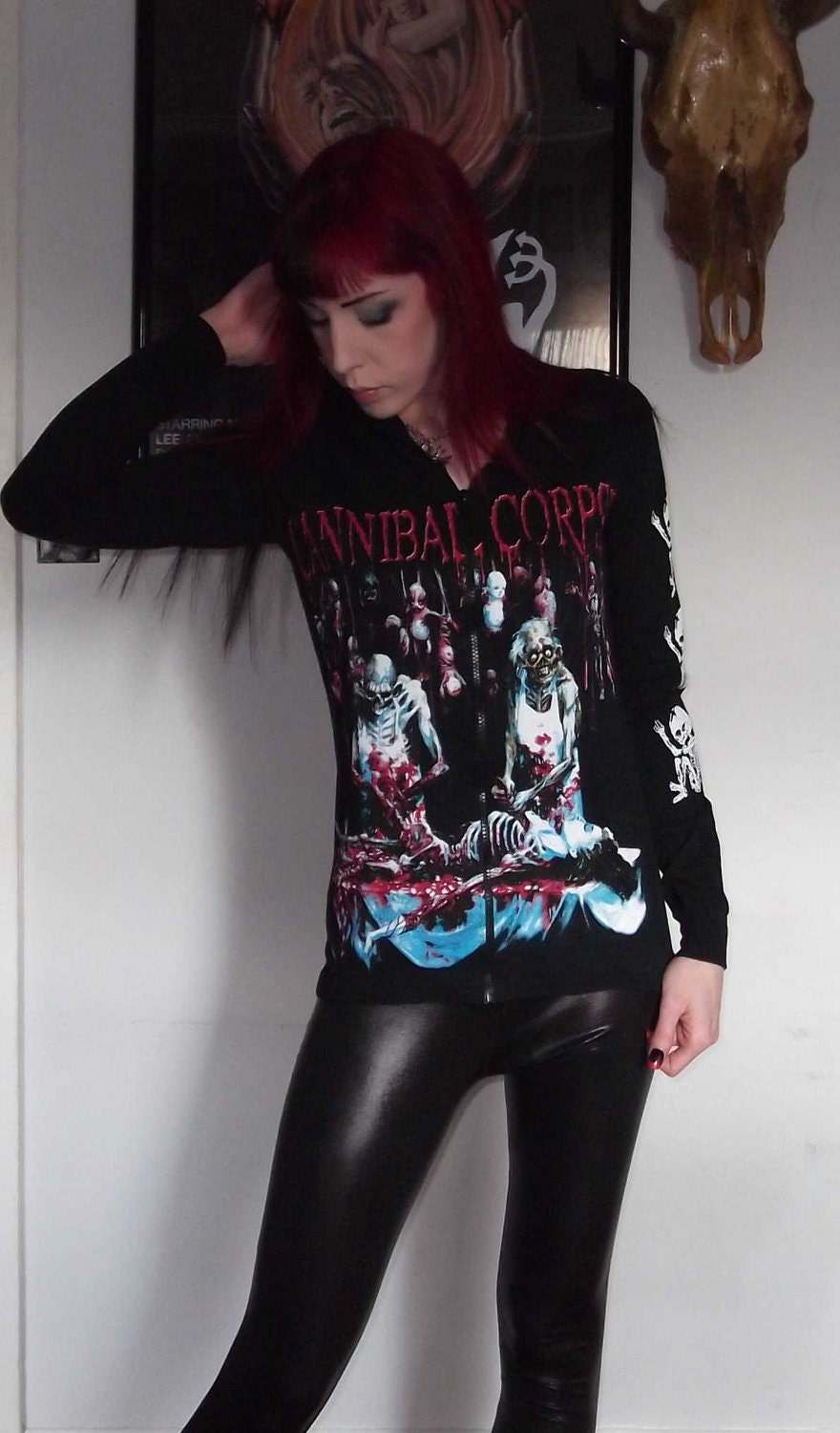 Cannibal Corpse Girls Zip Up Hoodie Butchered At Birth Death
