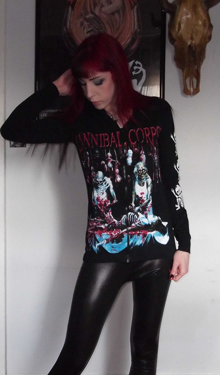 For men images recently traveled upstate for my publicist s birthday - Cannibal Corpse Girls Zip Up Hoodie Butchered At Birth Death