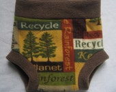 Large Fleece diaper soaker - save the planet print