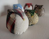 Pair of Owl Ornaments Decoration Plush Your Choice