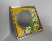Vintage Floral Mirror Wall Hanging