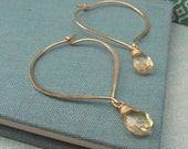 Temple Lotus Hoops in 14k Gold FIlled