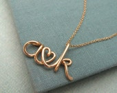 Two Lovers-14K Custom Initials Necklace